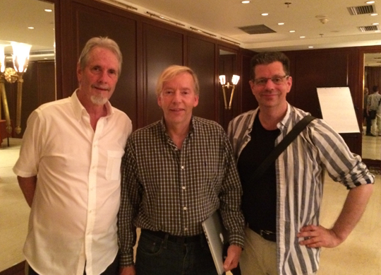 James Cowan (left), Arthur Versluis (center), and David Fideler (right) at the conclusion of the symposium.